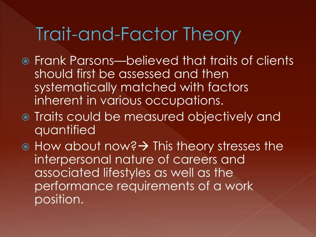 Trait-and-Factor Theory