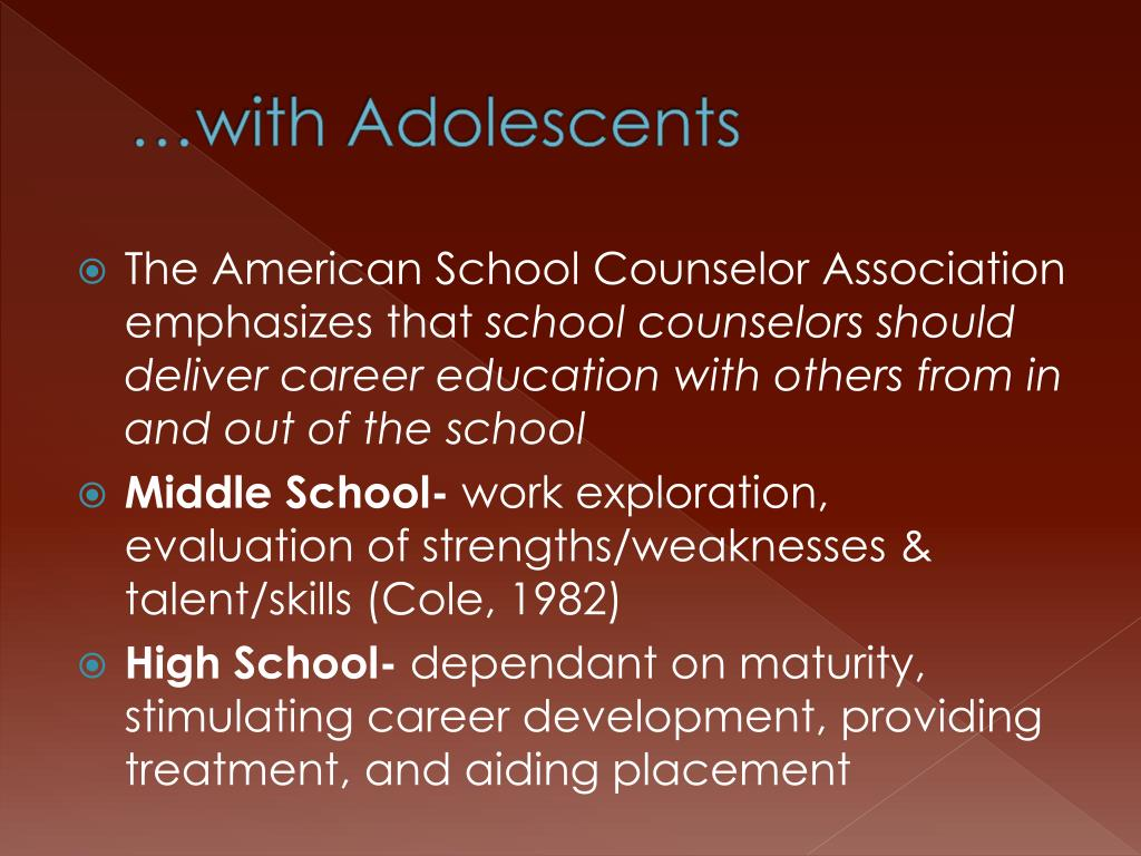 …with Adolescents