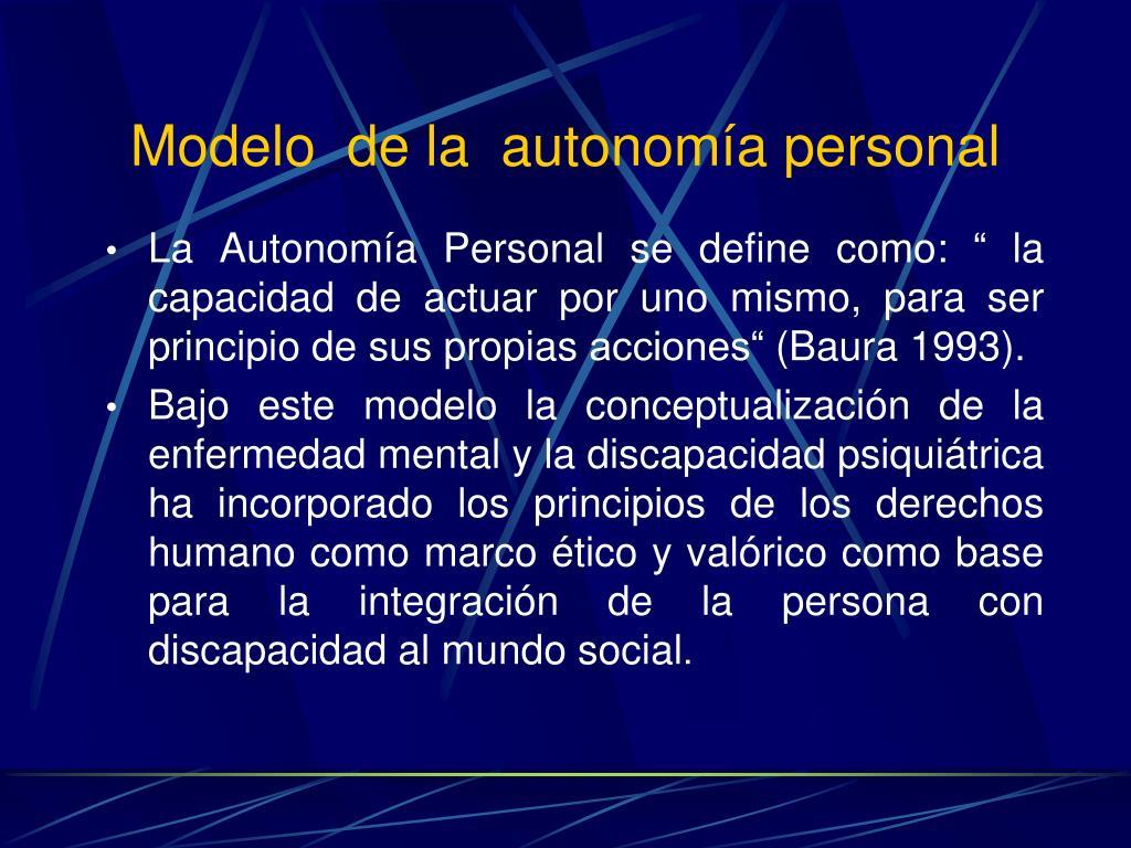 Modelo  de la  autonomía personal