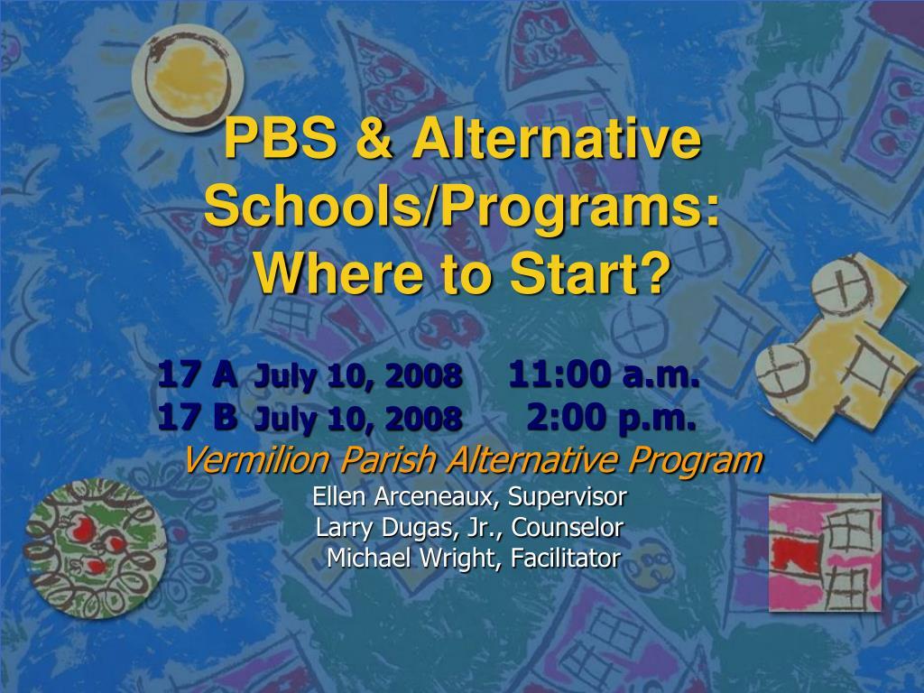 PBS & Alternative Schools/Programs: