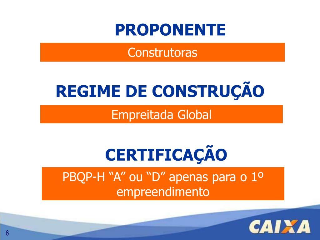 REGIME DE CONSTRUÇÃO