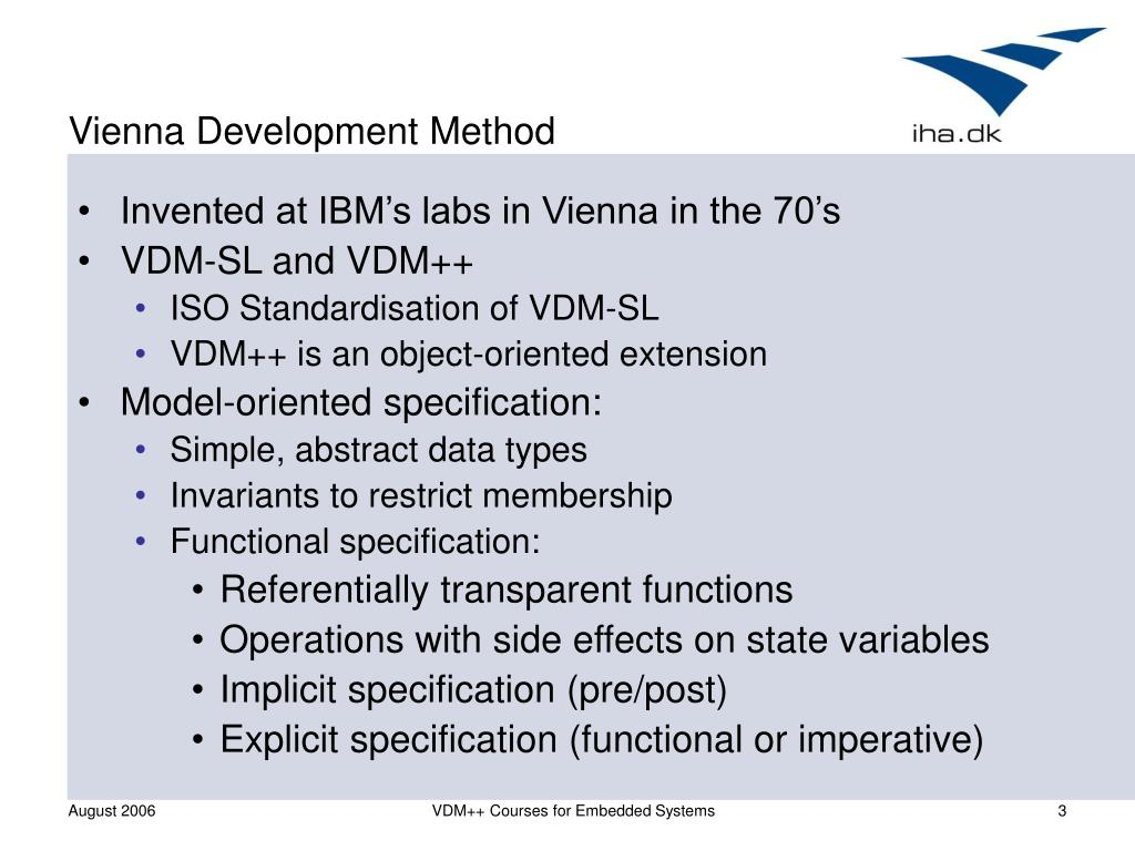 Vienna Development Method