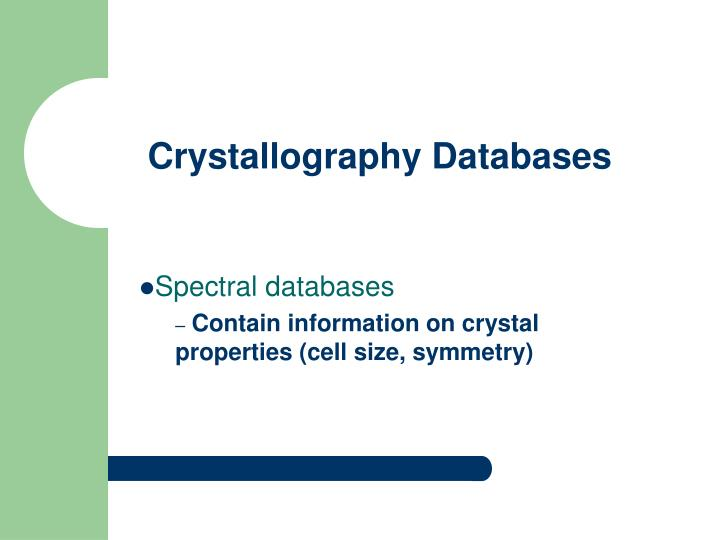 Crystallography databases3