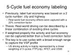 5 cycle fuel economy labeling