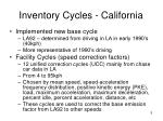 inventory cycles california