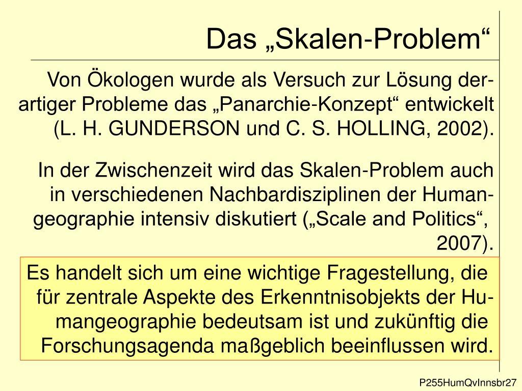 """Das """"Skalen-Problem"""""""