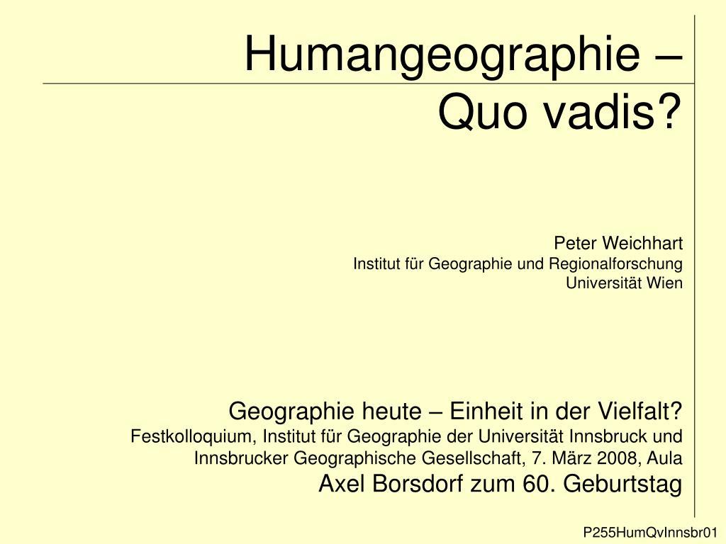 Humangeographie –