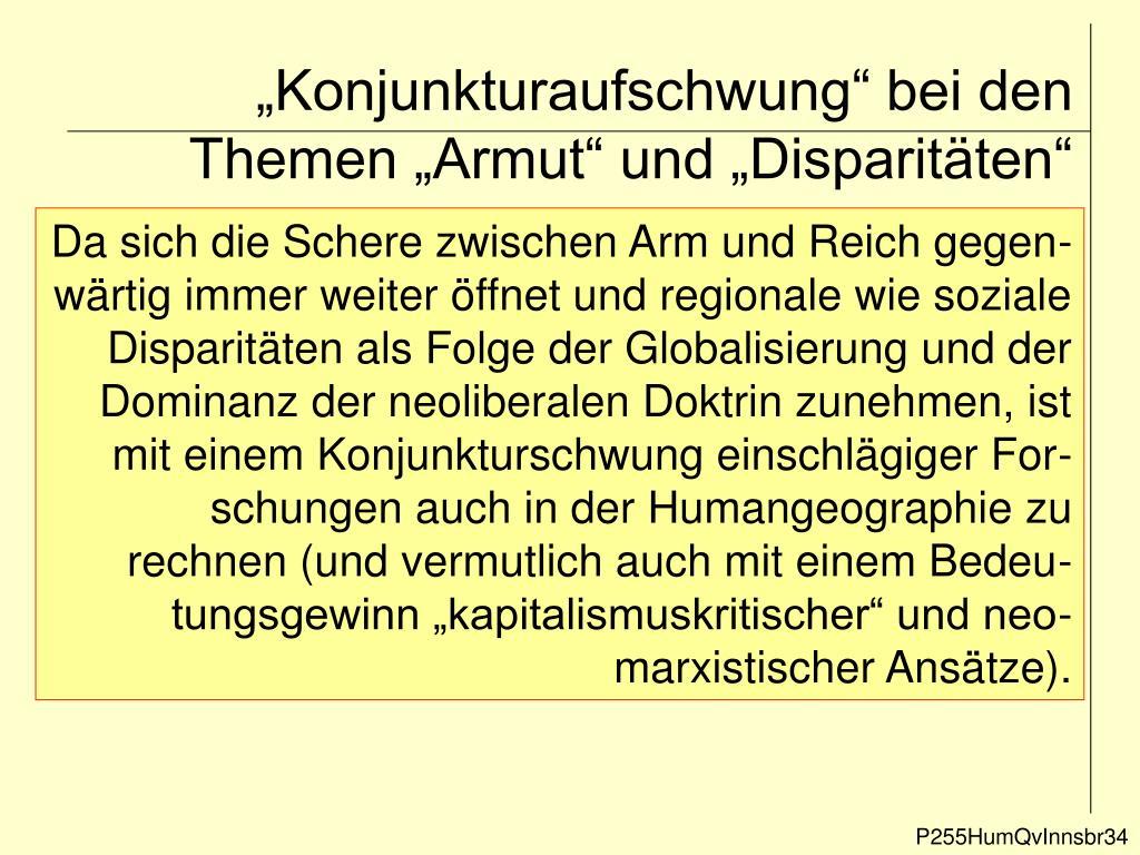 """""""Konjunkturaufschwung"""" bei den Themen """"Armut"""" und """"Disparitäten"""""""