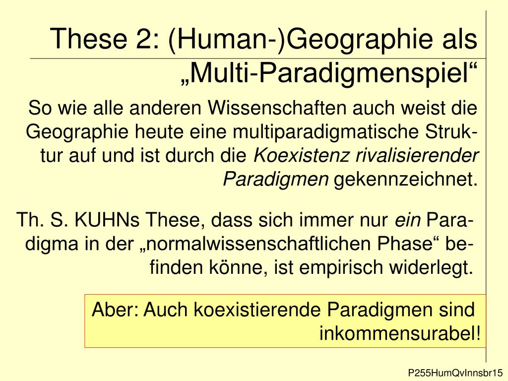 "These 2: (Human-)Geographie als ""Multi-Paradigmenspiel"""