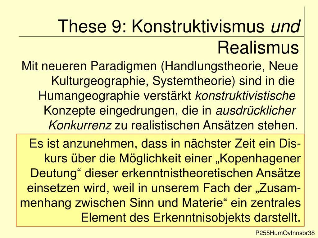 These 9: Konstruktivismus