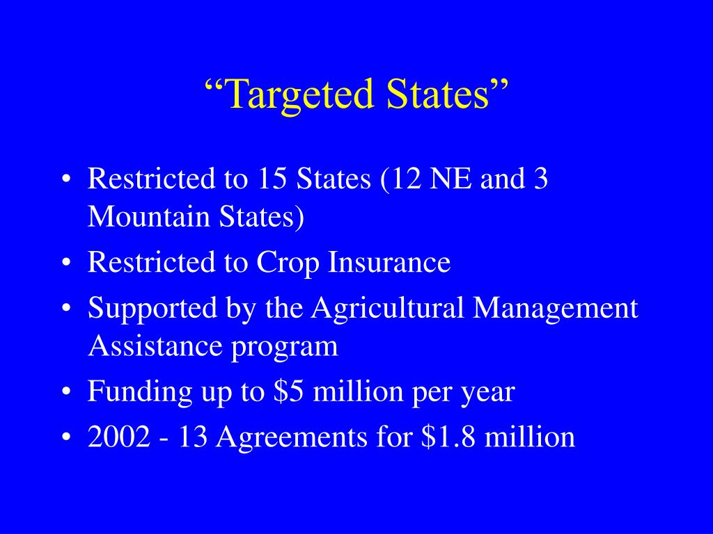 """""""Targeted States"""""""