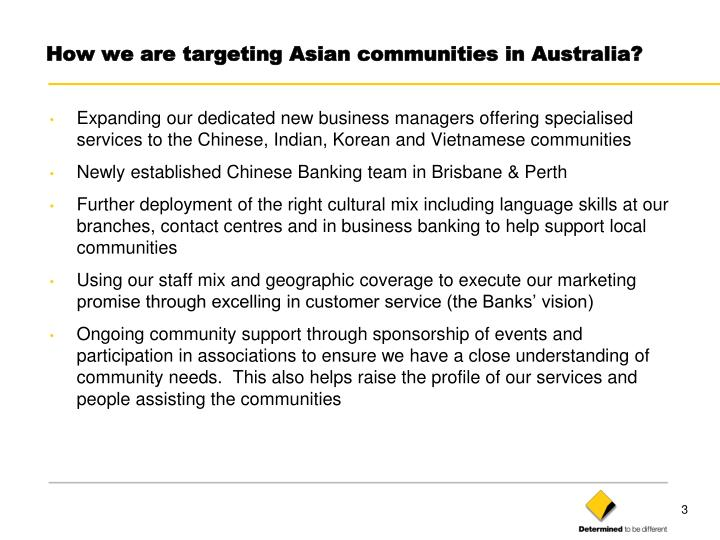 How we are targeting asian communities in australia