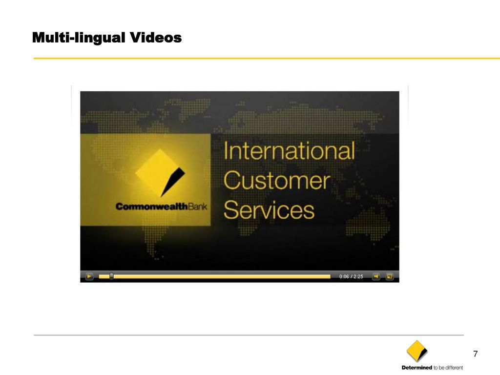 Multi-lingual Videos