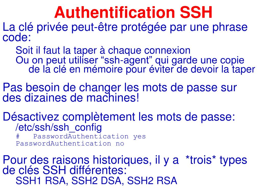 Authentification SSH