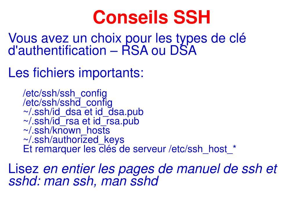 Conseils SSH