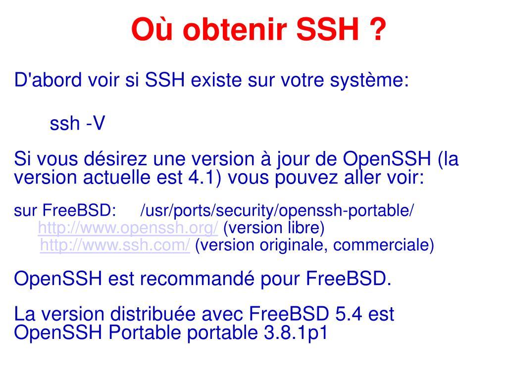 Où obtenir SSH ?