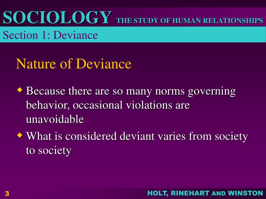 Section 1: Deviance