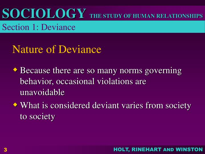Nature of deviance