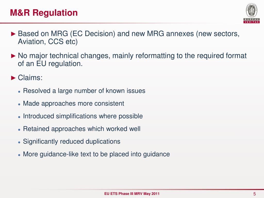 M&R Regulation