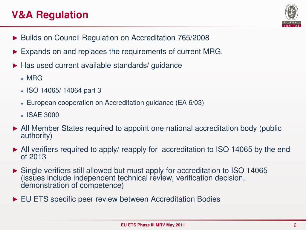 V&A Regulation