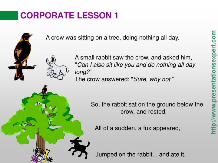 Corporate lesson 1