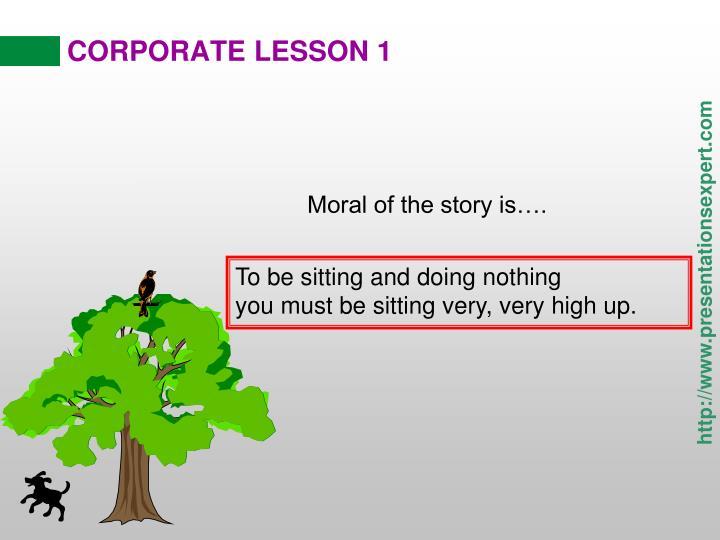 Corporate lesson 11