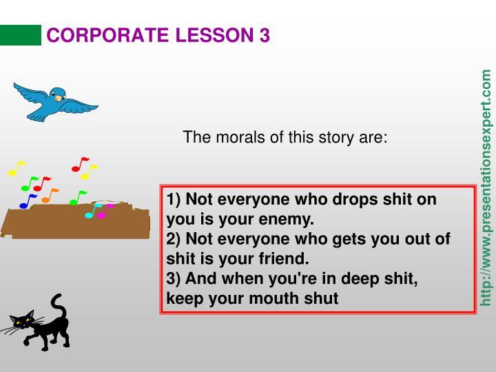 CORPORATE LESSON 3
