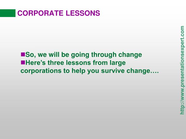 corporate lessons n.