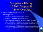 compliance history 30 tac chapter 60 a brief overview13