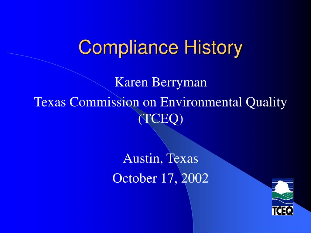 compliance history l.