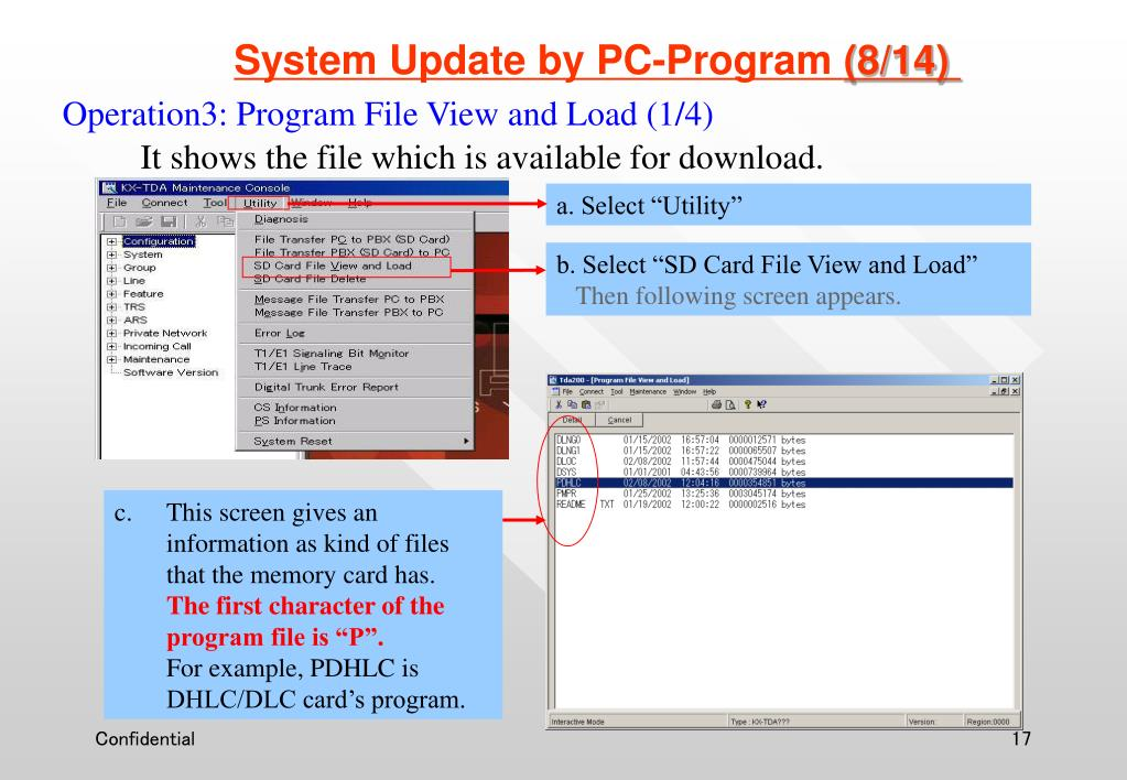 System Update by PC-Program