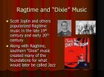 ragtime and dixie music