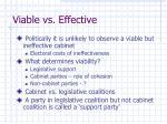 viable vs effective