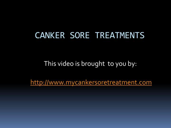 Canker sore treatments
