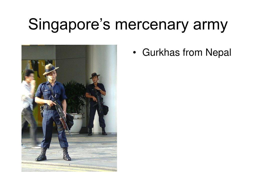 Gurkhas from Nepal