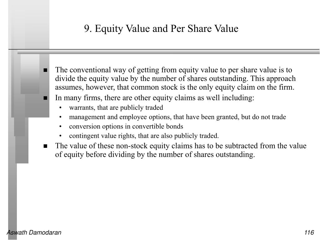 9. Equity Value and Per Share Value