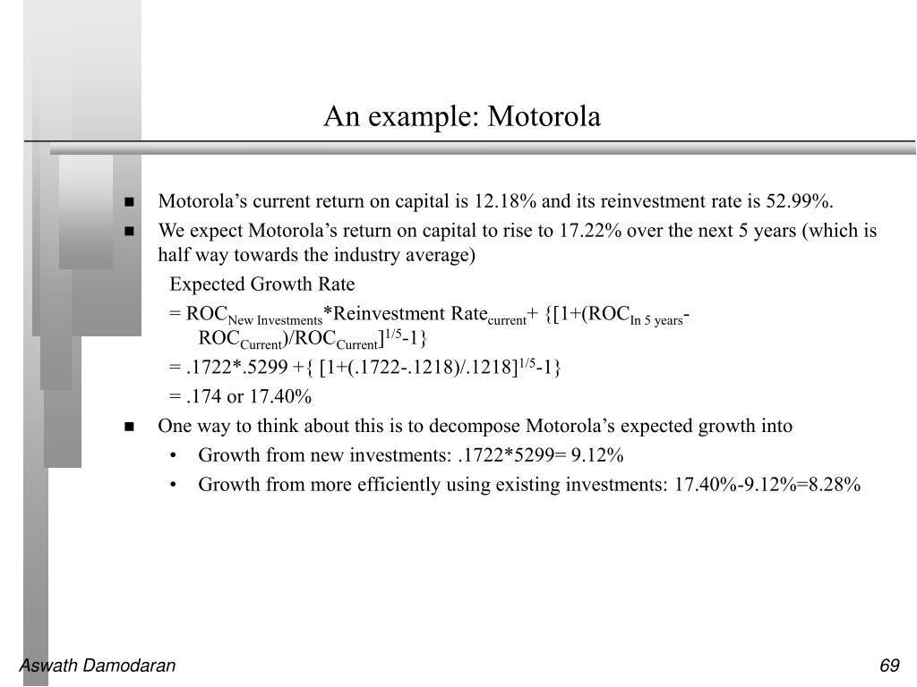 An example: Motorola