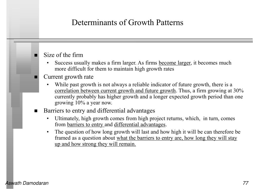 Determinants of Growth Patterns