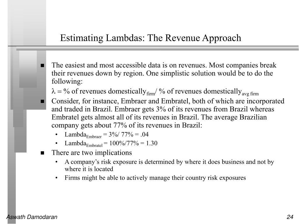 Estimating Lambdas: The Revenue Approach