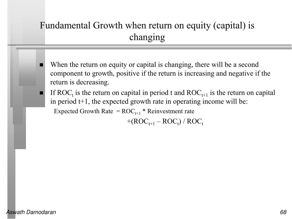 Fundamental Growth when return on equity (capital) is changing