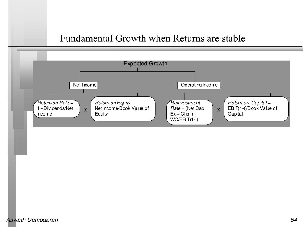 Fundamental Growth when Returns are stable