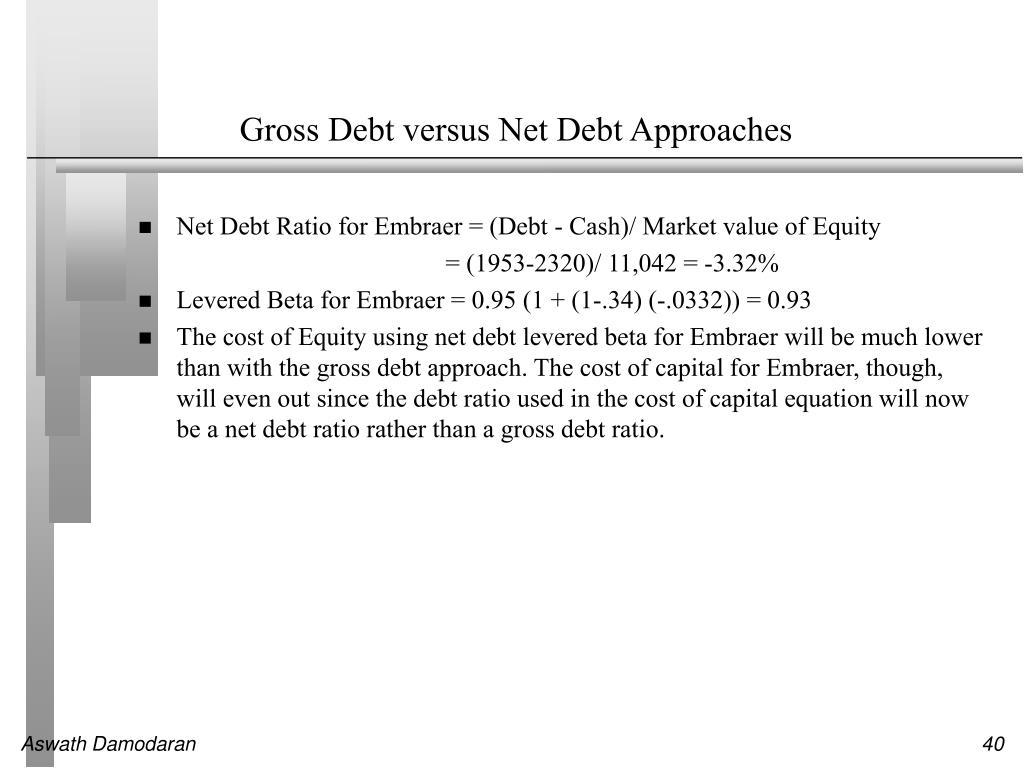 Gross Debt versus Net Debt Approaches