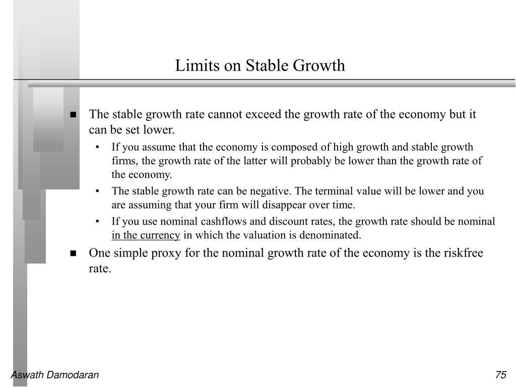 Limits on Stable Growth