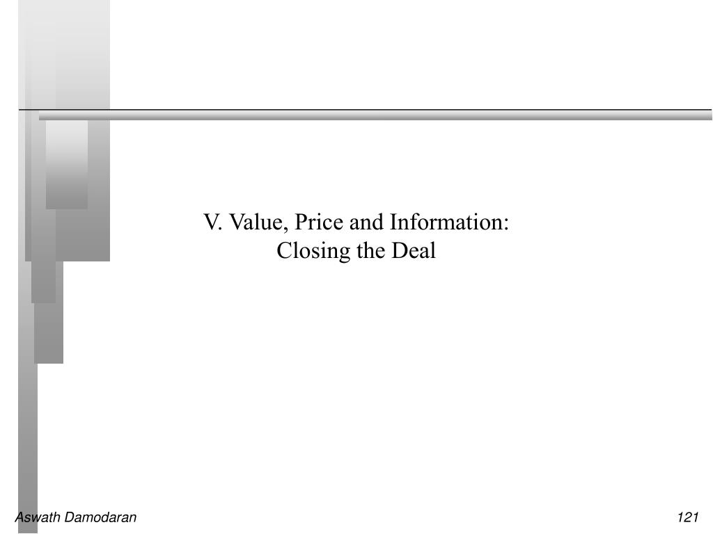 V. Value, Price and Information: