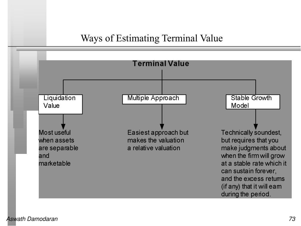 Ways of Estimating Terminal Value