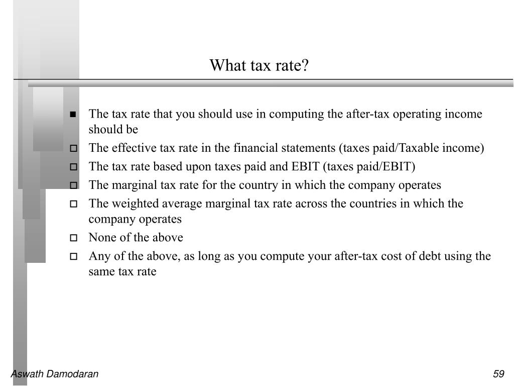 What tax rate?