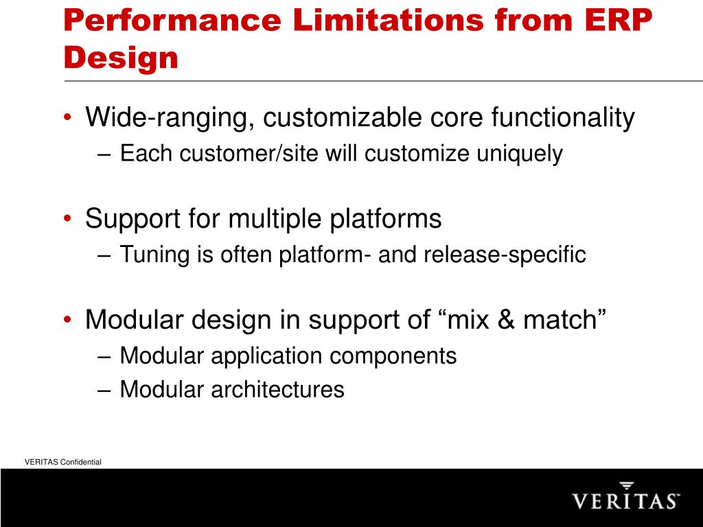 Performance Limitations from ERP Design