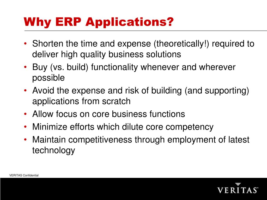 Why ERP Applications?