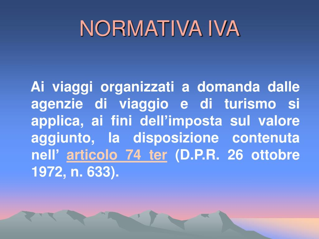 NORMATIVA IVA