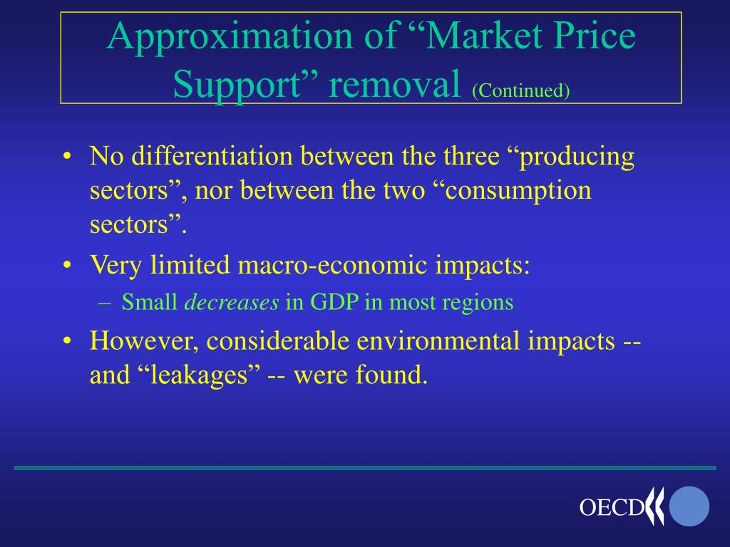 """Approximation of """"Market Price Support"""" removal"""